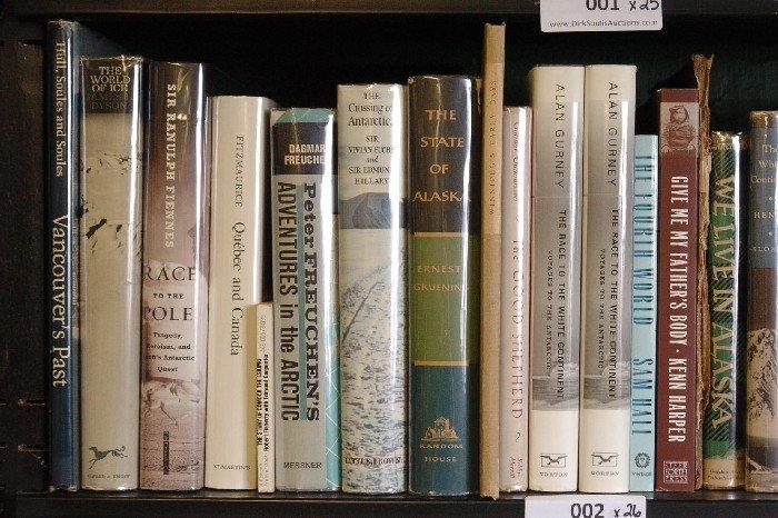 LOT OF 26 BOOKS ON ANTARCTICA AND ALASKA