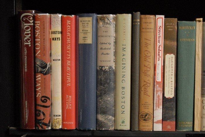 LOT OF 37 BOOKS, MASSACHUSETTS, BOSTON
