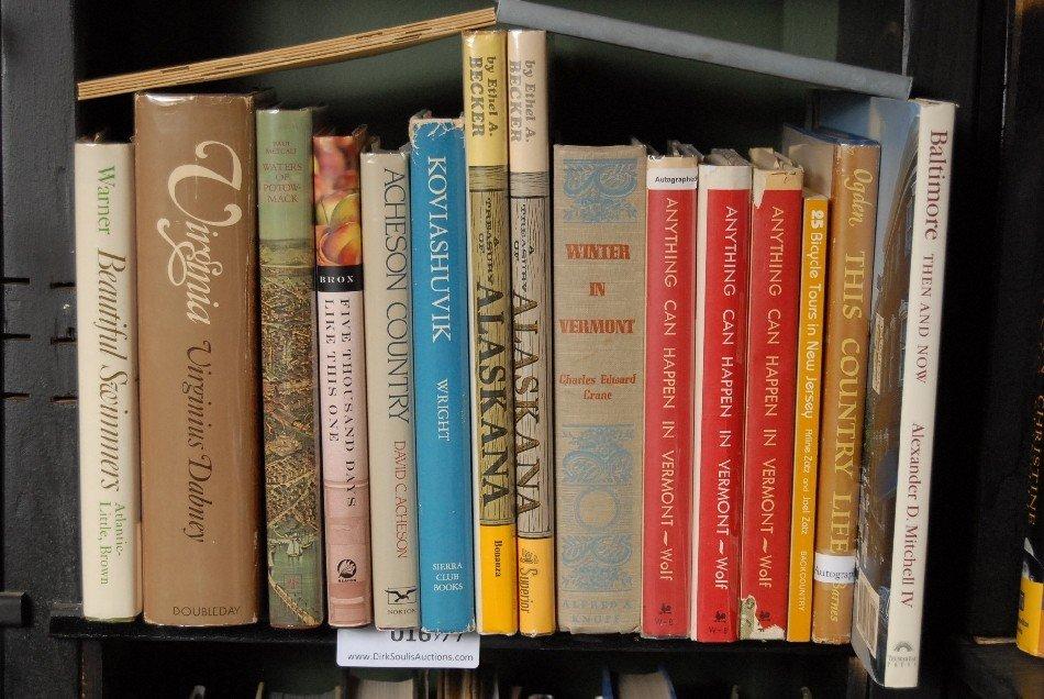 LOT OF 17 BOOKS ON ALASKA, VERMONT
