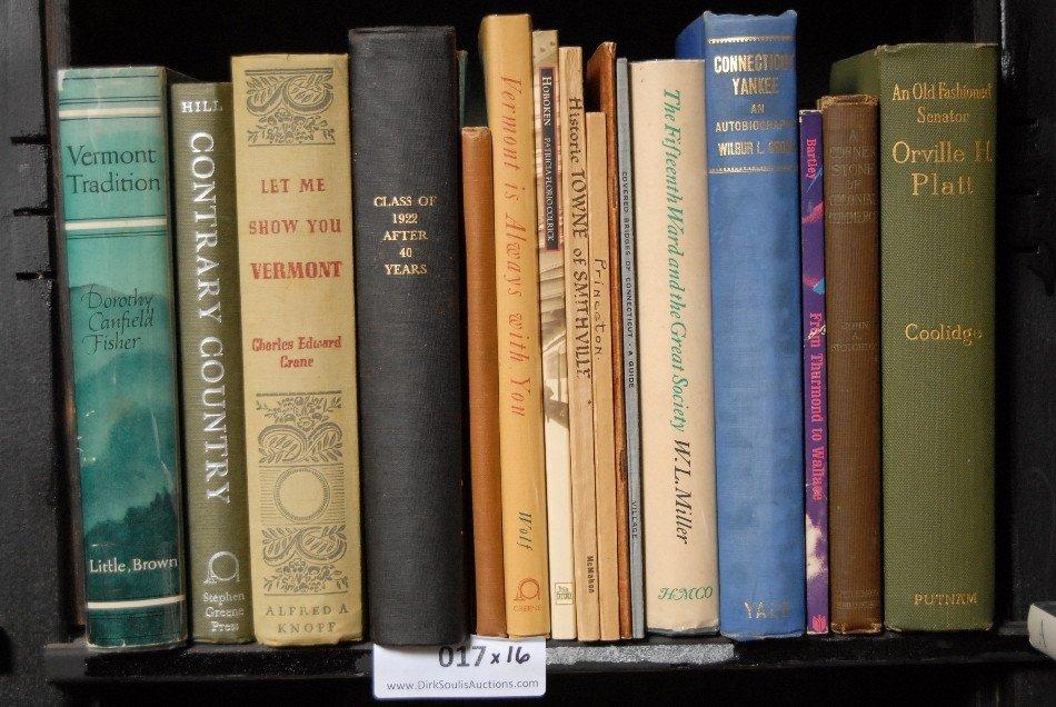 LOT OF 16 BOOKS, VERMONT, CONNECTICUT