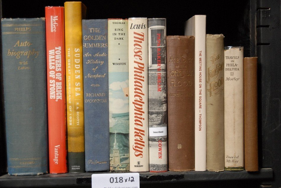 LOT OF 12 BOOKS, PHILADELPHIA, HISTORY OF JOHNSTOWN FLO