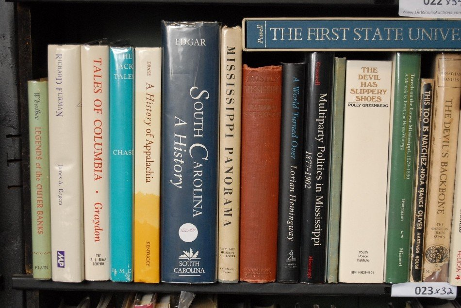 LOT OF 32 BOOKS ON THE CAROLINAS AND MISSISSIPPI