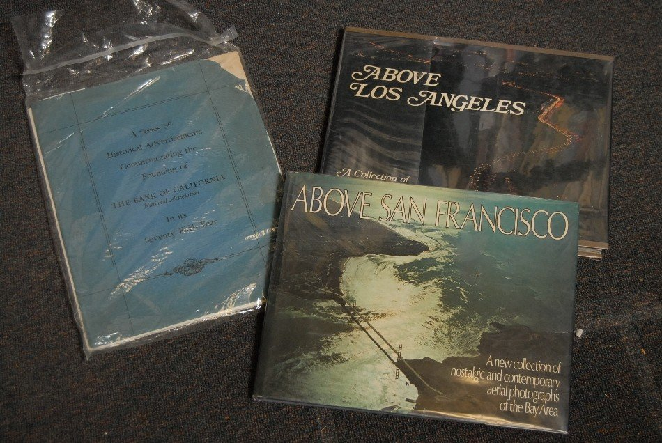 LOT OF 10 BOOKS AND BROCHURES ON CALIFORNIA