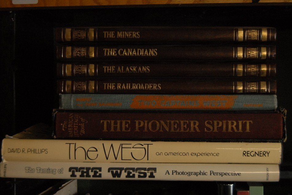 LOT OF 19 BOOKS ON THE WEST INCLUDING TIME LIFE BOOKS