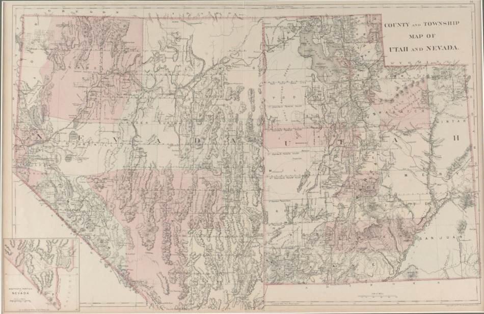 THREE 19TH CENTURY MAPS OF UTAH