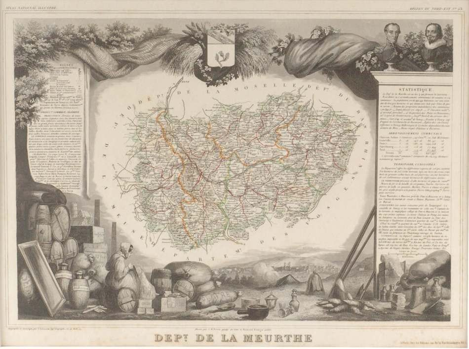 THREE MAPS BY A. COMBETTE, PARIS, 1849