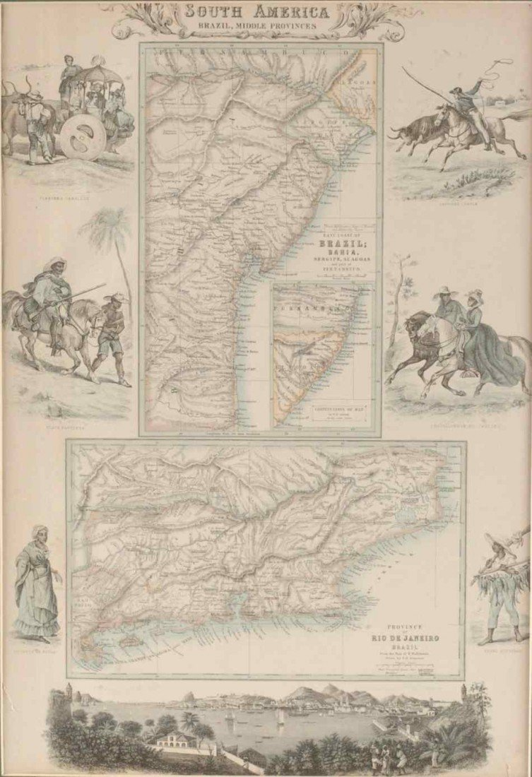 TWO 19TH CENTURY MAPS OF BRAZIL