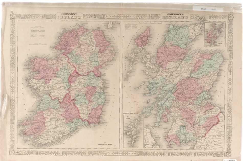 TWO 19TH CENTURY MAPS OF ENGLAND, SCOTLAND, IRELAND
