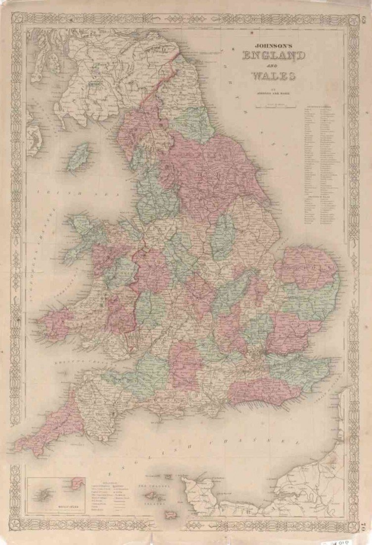 TWO 19TH CENTURY MAPS OF ENGLAND AND WALES