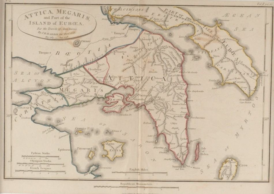 THREE 1817 MAPS OF GREECE, TRAVELS OF ANARCHARSIS