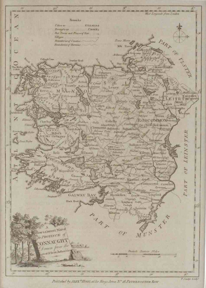 TWO MAPS OF IRELAND, ALEXANDER HOGG, 1785-1790