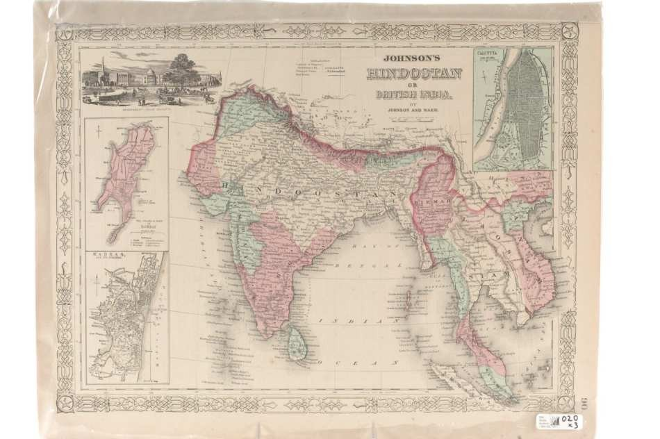 THREE MAPS OF ASIA AND HINDOSTAN (INDIA)