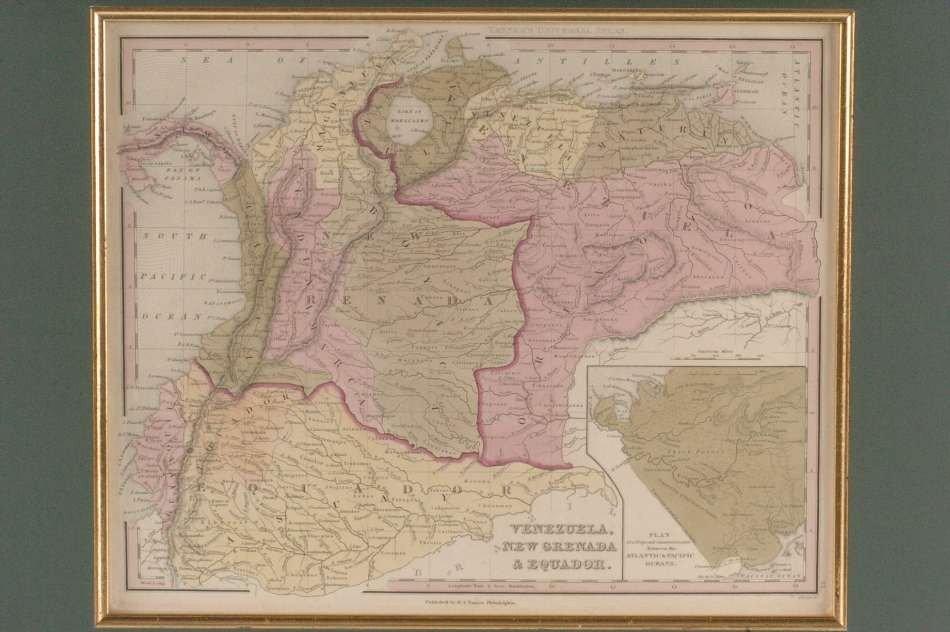THREE MAPS OF SOUTH AMERICA (VENEZUELA-PATAGONIA)