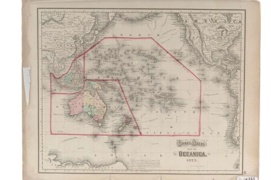 TWO 19TH CENTURY MAPS OF OCEANIA, 1836 AND 1873