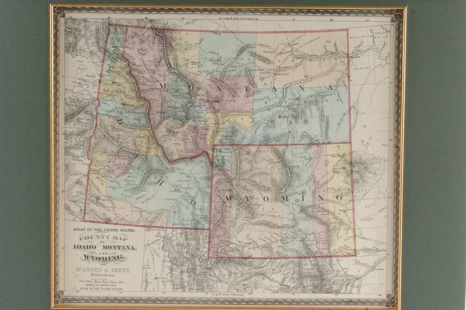 TWO MAPS OF MONTANA AND REGION, 1872 AND 1917