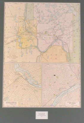 A 1912 MINNEAPOLIS COMMERCIAL MAP, RAND MCNALLY