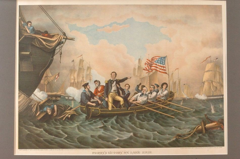 KURZ AND ALLISON PERRY'S VICTORY ON LAKE ERIE LITHOGRAP