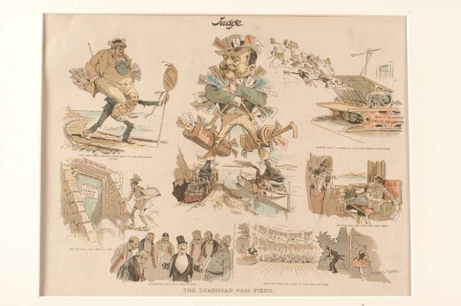 FOUR 19TH CENTURY POLITICAL CARTOONS - 9