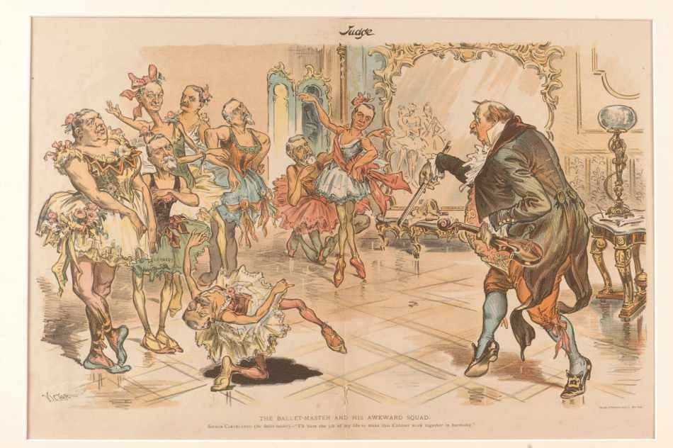 FOUR 19TH CENTURY POLITICAL CARTOONS