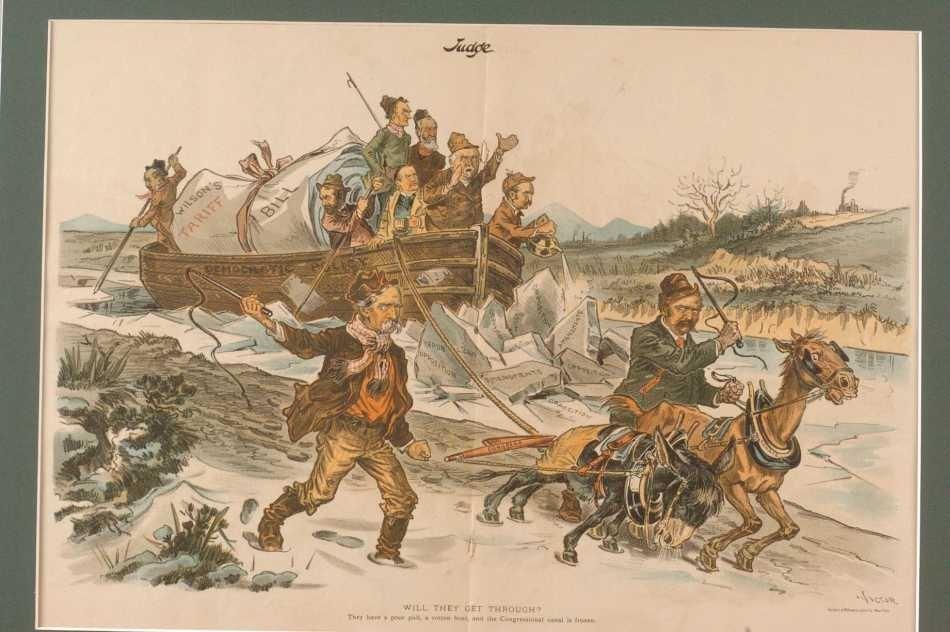 FOUR 19TH CENTURY POLITICAL CARTOONS - 4