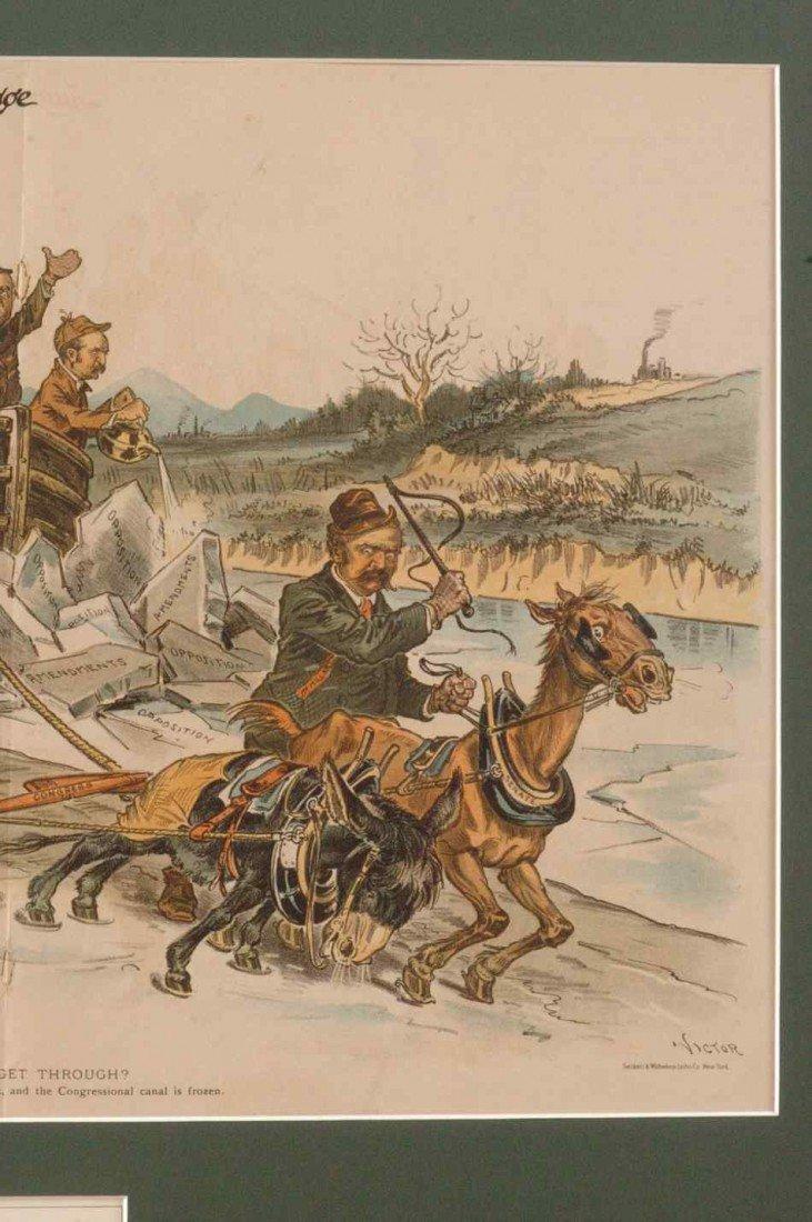 FOUR 19TH CENTURY POLITICAL CARTOONS - 6