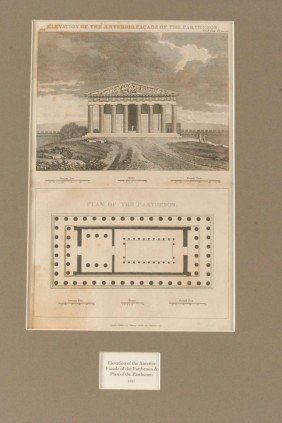 TWO PLANS OF PARTHENON AND TEMPLE OF THESEUS, 1817