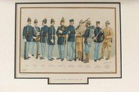 TWO H.A. OGDEN US ARMY UNIFORM LITHOGRAPHS