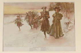 FIVE COLOR LITHOGRAPHS BY W. GRANVILLE SMITH, 1890'S