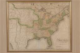 JOHN MELISH MAP OF THE UNITED STATES CIRCA 1820