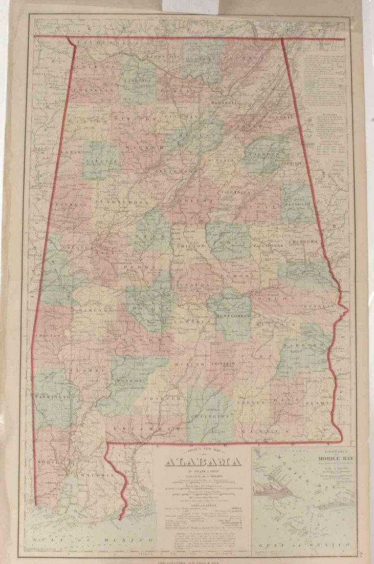 TWO COUNTY MAPS OF ALABAMA AND GEORGIA