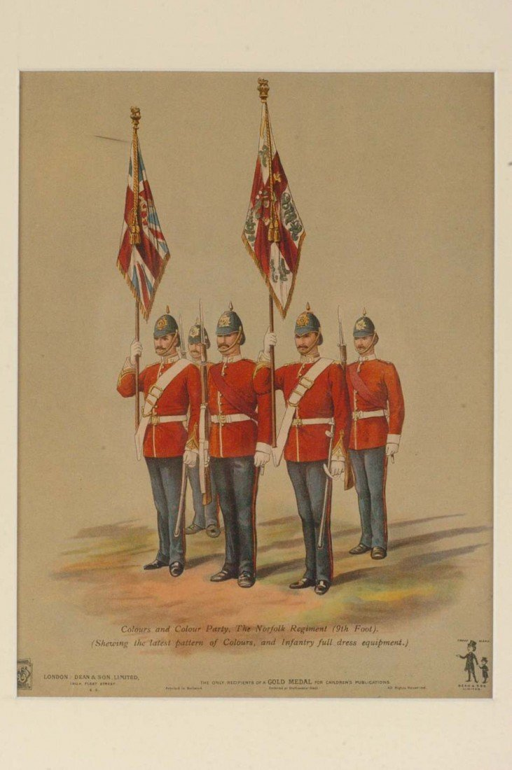 ARCHIVE OF SEVEN BRITISH ARMY LITHOGRAPHS & ETCHINGS