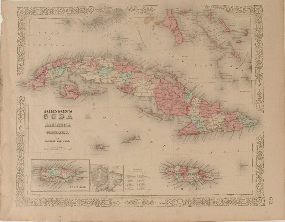 LOT OF SIX CARIBBEAN AND WEST INDIES MAPS