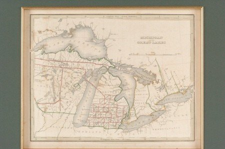 ANTHONY FINLEY MICHIGAN TERRITORY MAP 1834