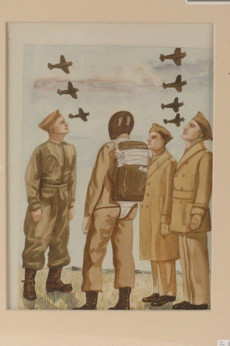 ARCHIVE OF 13 WWII ERA ARMY UNIFORM ILLUSTRATIONS, L.S.