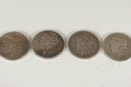 4: LOT OF FOUR MORGAN SILVER DOLLARS