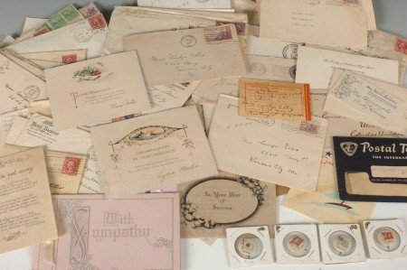 23: LARGE LOT OF STAMPS AND OTHER VINTAGE EPHEMRA