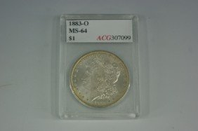 1883-O MS64 MORGAN SILVER DOLLAR