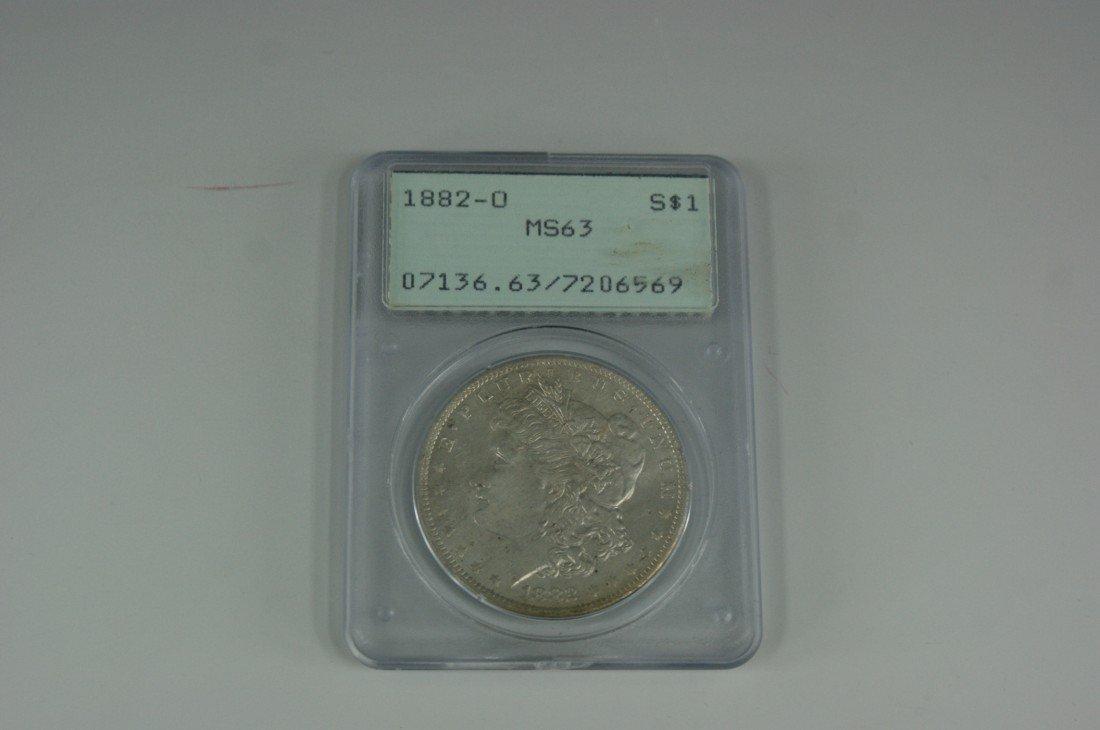 26: 1882-O MS63 MORGAN SILVER DOLLAR