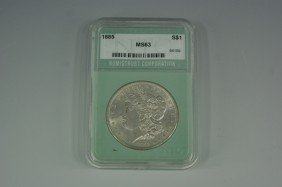 1885 MS63 MORGAN SILVER DOLLAR