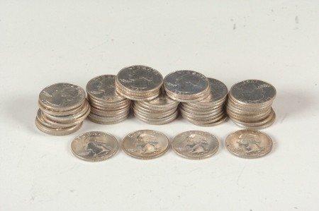 35: $13.50 FACE VALUE UNC WASHINGTON QUARTERS