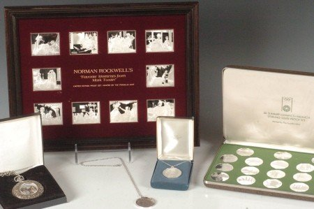 35A: LOT OF FRANKLIN MINT STERLING SILVER ITEMS