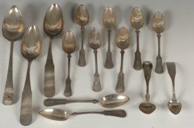 LOT OF ESTATE .800 SILVER SPOONS