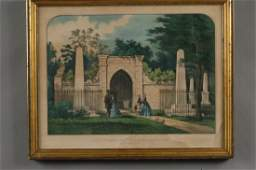 144: CURRIER AND IVES LITHOGRAPH WASHINGTON'S TOMB