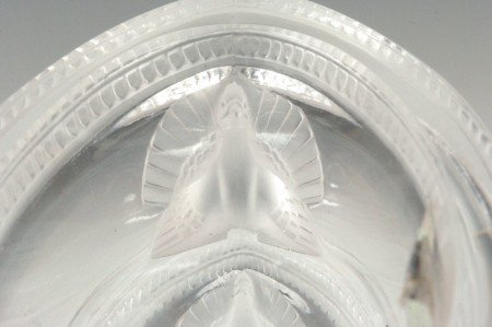 281: LALIQUE 'SAINT MARC' FRENCH CRYSTAL VASE - 10