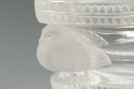 281: LALIQUE 'SAINT MARC' FRENCH CRYSTAL VASE - 3