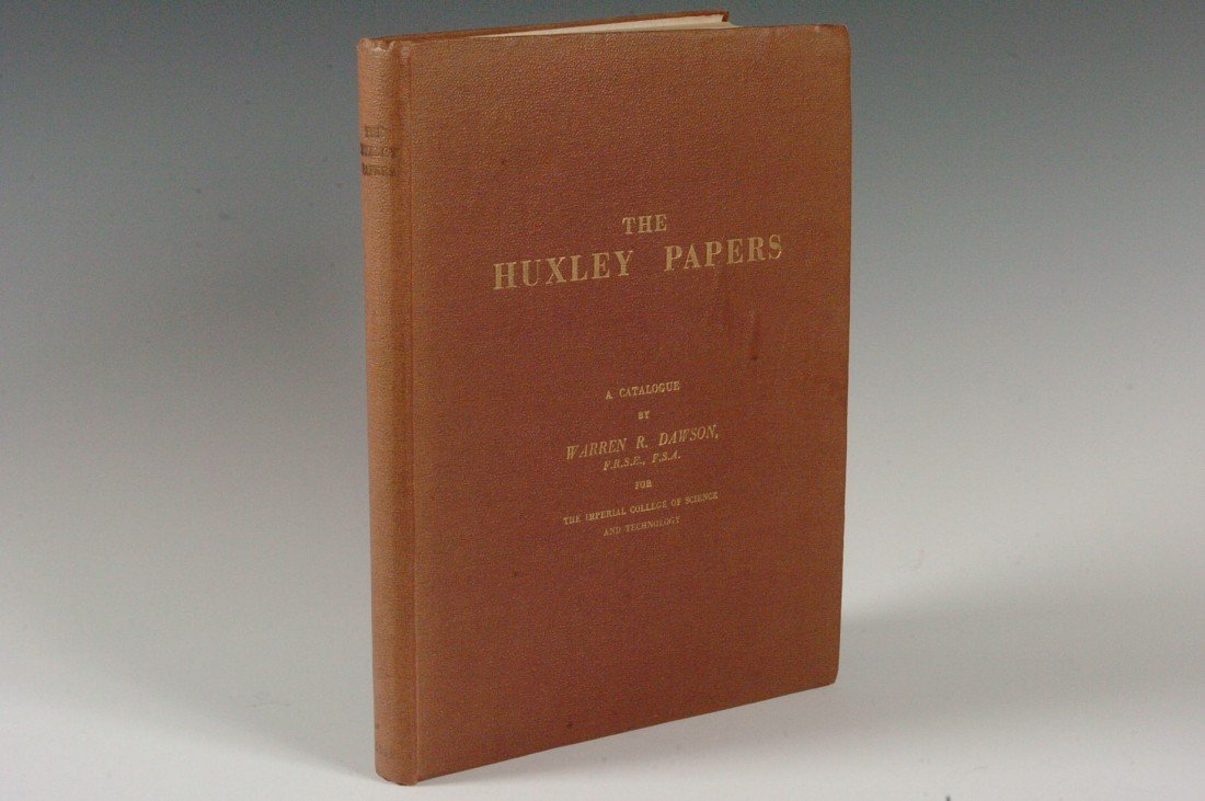 Dawson, Warren, Huxley Papers, Signed 1946 edition