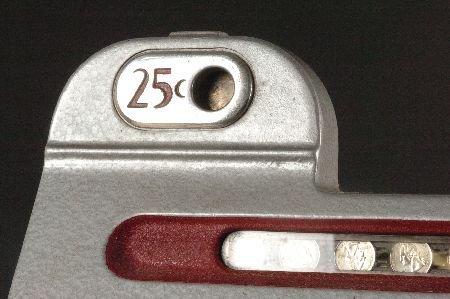 MILLS BLACK CHERRY 25 CENT SLOT MACHINE, ORIGINAL & NIC - 2