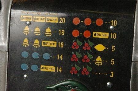 MILLS BLACK CHERRY 25 CENT SLOT MACHINE, ORIGINAL & NIC - 3