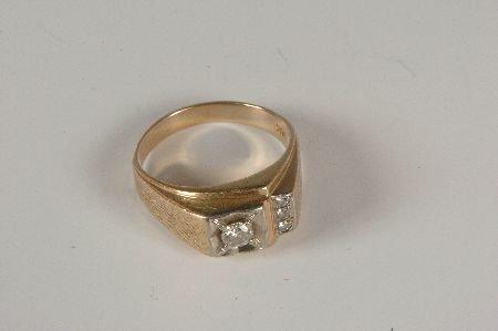 GENTS 14KT YELLOW GOLD .36 CARAT DIAMOND RING