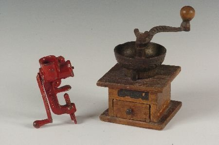 CHILD'S COFFEE MILL AND FOOD GRINDER